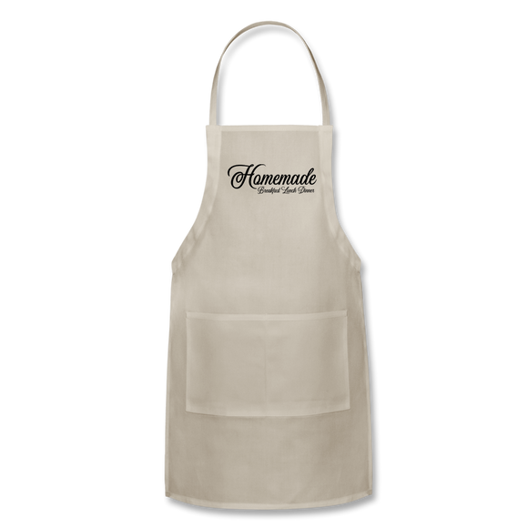 Homemade Breakfast Lunch Dinner Apron - natural