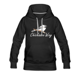 Chickadee Way Hoodie White Lettering - black