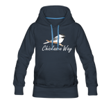 Chickadee Way Hoodie White Lettering - navy