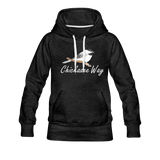 Chickadee Way Hoodie White Lettering - charcoal gray