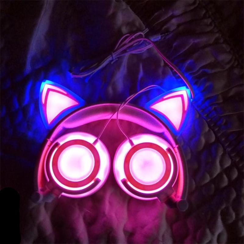 Écouteur Chat à Led