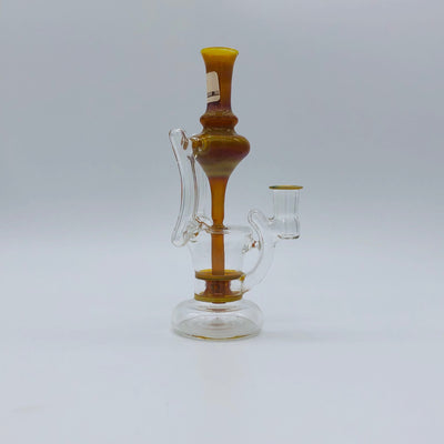 "Blais Glass - ""Double Jet Recycler"" Yellow"
