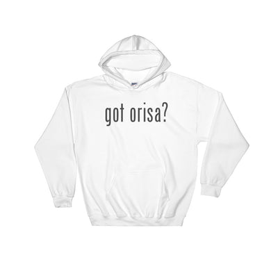 Got Orisa? HOODED SWEATSHIRT (WHITE)