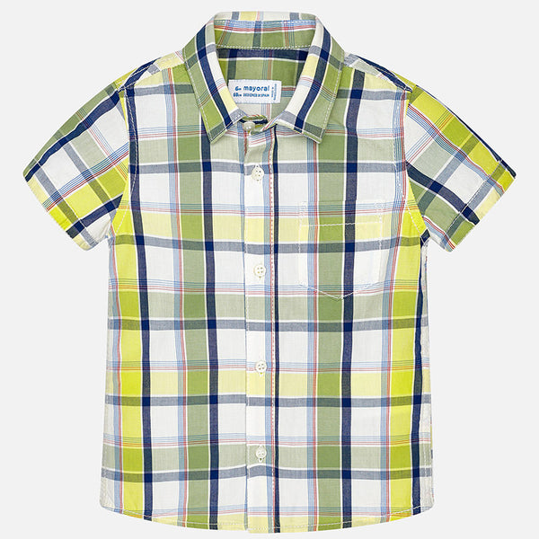 Lime Checked Shirt Mayoral