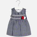 Gingham Dress Navy Mayoral