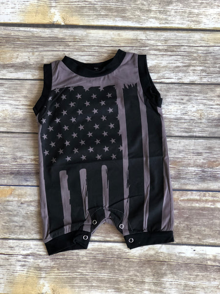 Grey Flag Romper