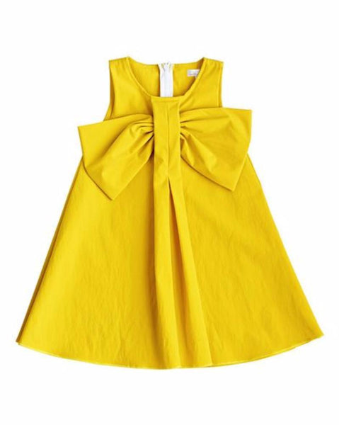Big Bow Dress Mustard
