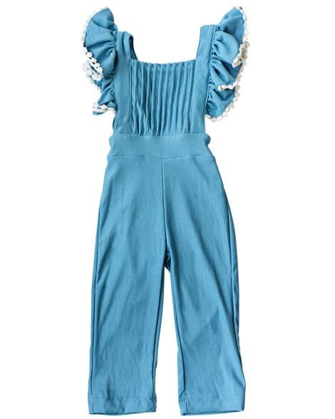 Pleated Ruffled Jumpsuit