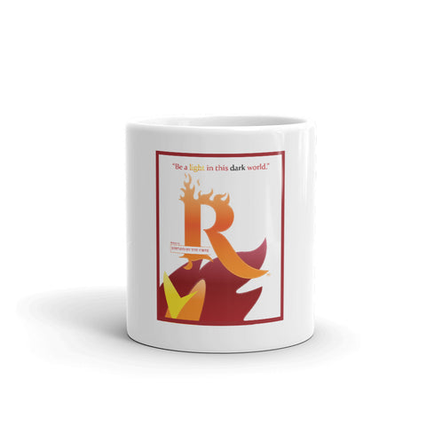 "RBTF's Tagline: ""Be A Light In This Dark World"" 11oz & 15 oz mugs"