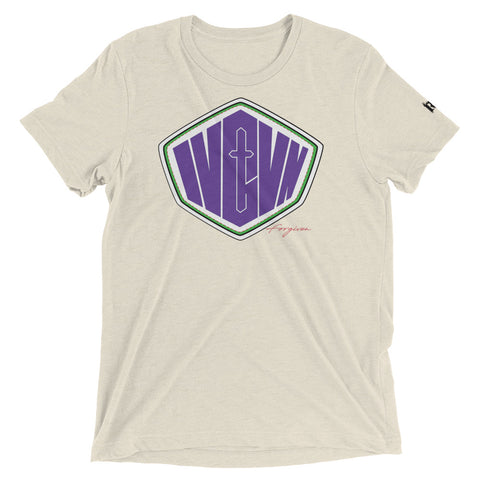 """Superhero LOL!!!"" Unisex short sleeve t-shirt (Green & Purple design)"