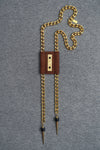 BAKARI BOLO - Chestnut (gold or black chain)