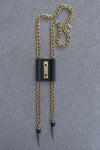 BAKARI BOLO CLASSIC BLACK - (gold, gunmetal or black chain)