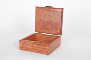Handmade jewelry box: bubinga, ebony, brass