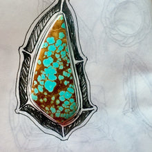 Number 8 Turquoise pendant