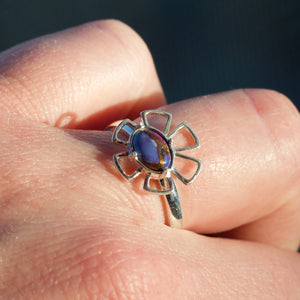 Mojave Turquoise Flower Ring