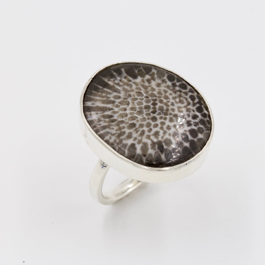Fossil Coral Ring