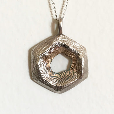 Hexagon Texture Pendant