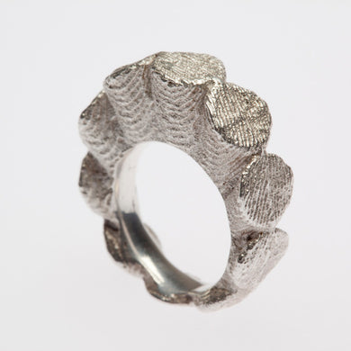 One of a Kind Sterling Silver Ruffle Ring