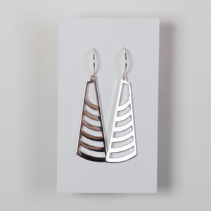 Sterling Silver Mesa Edge Earrings