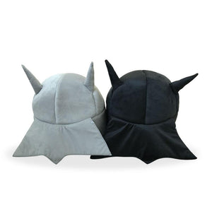 batman funny cat bed gray sirwoofwoof