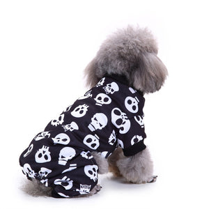 Funny Dog Skull Costume For Halloween SirWoofWoof