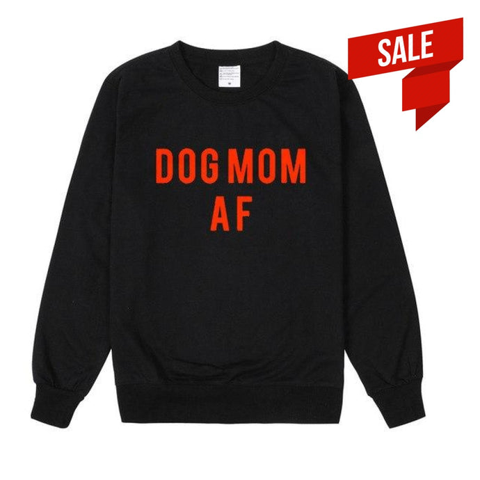 Dog Mom Af Sweater Black And Red / S