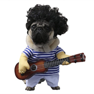 Funny Rockstar Guitar Dog Costume