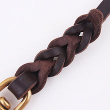 Load image into Gallery viewer, Premium Leather Woven Leash