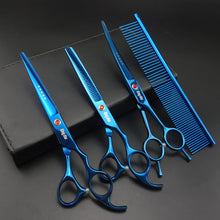 Load image into Gallery viewer, 4 PCS Set -7 inch Professional Grooming Scissors
