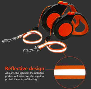Reflective Automatic Retractable Dog Leash