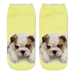 Yellow Bulldog Socks