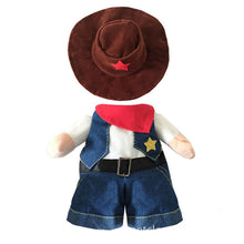 Load image into Gallery viewer, Funny Cowboy Dog Costume