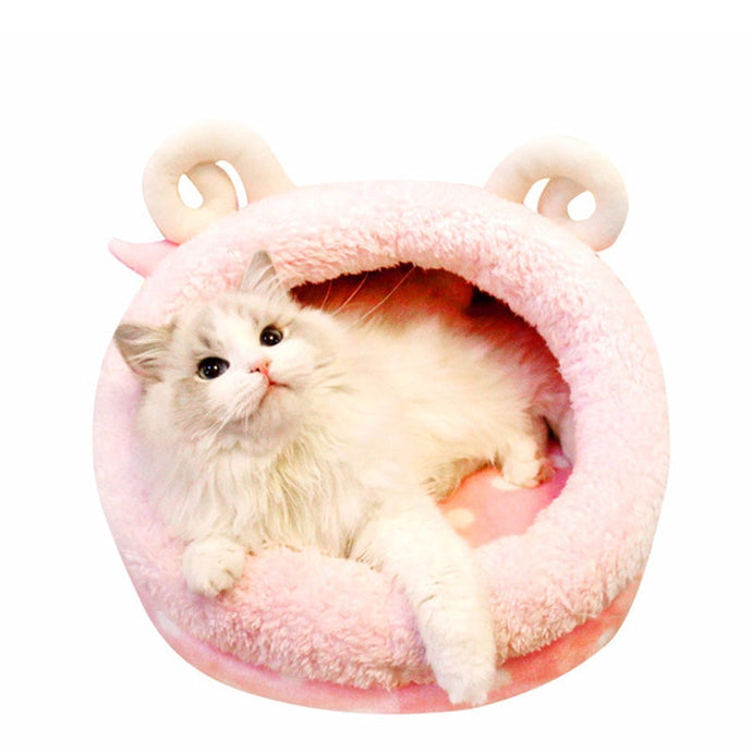 Funny Pink Cat Cave Sleeping Bed