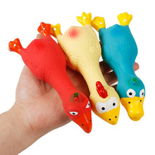 Load image into Gallery viewer, Rubber Screaming Chicken Toy