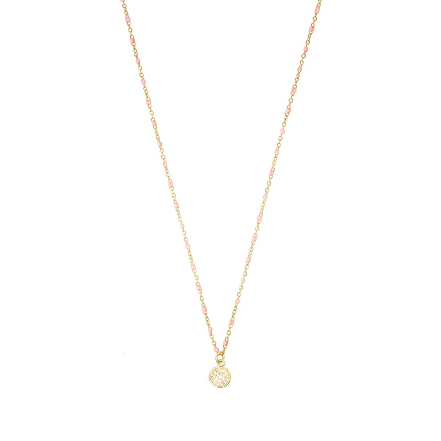 Selina Necklace in Coral