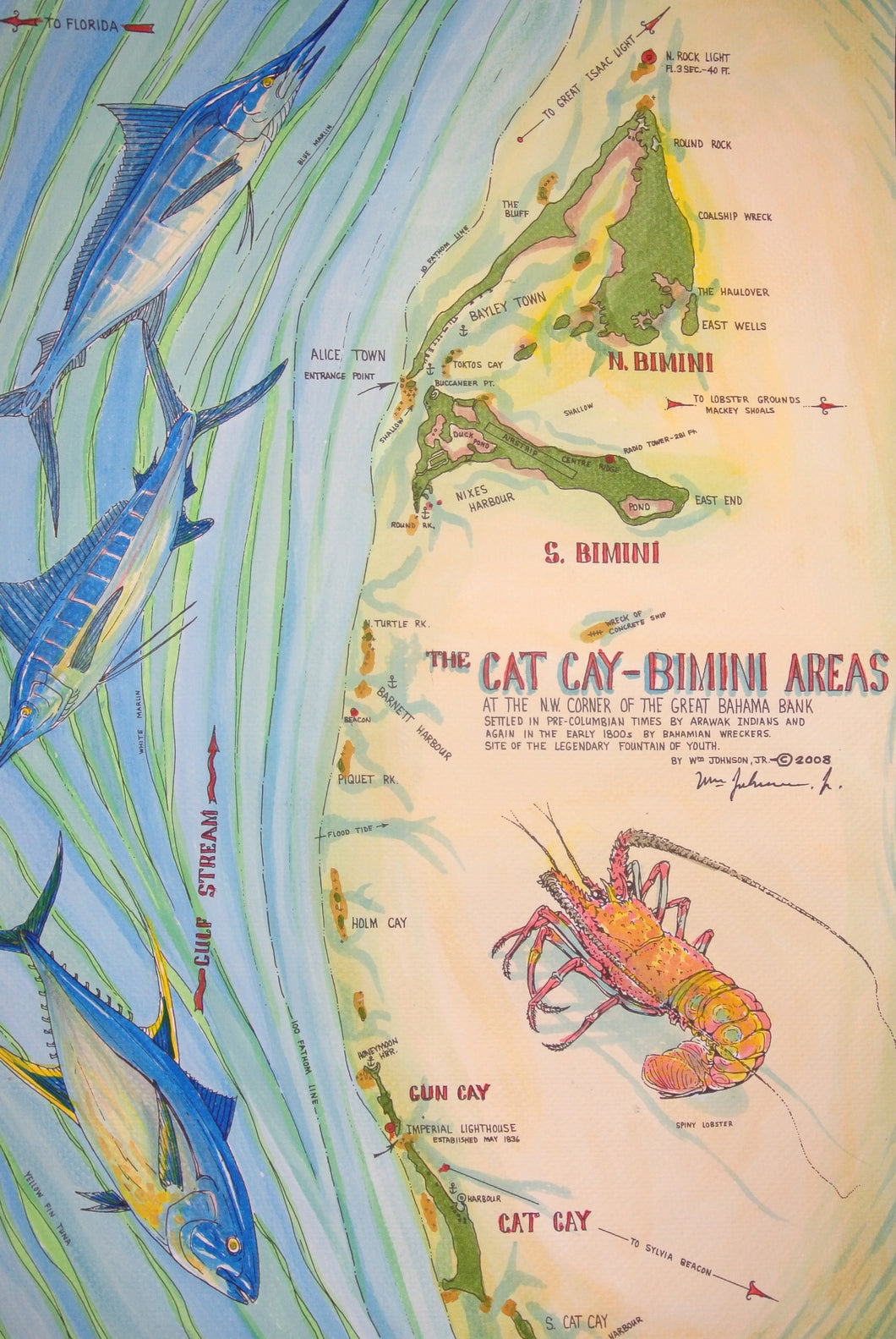 Map of Cat Cay - Bimini