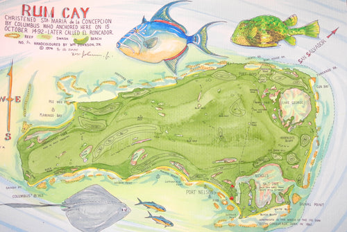Map of Rum Cay