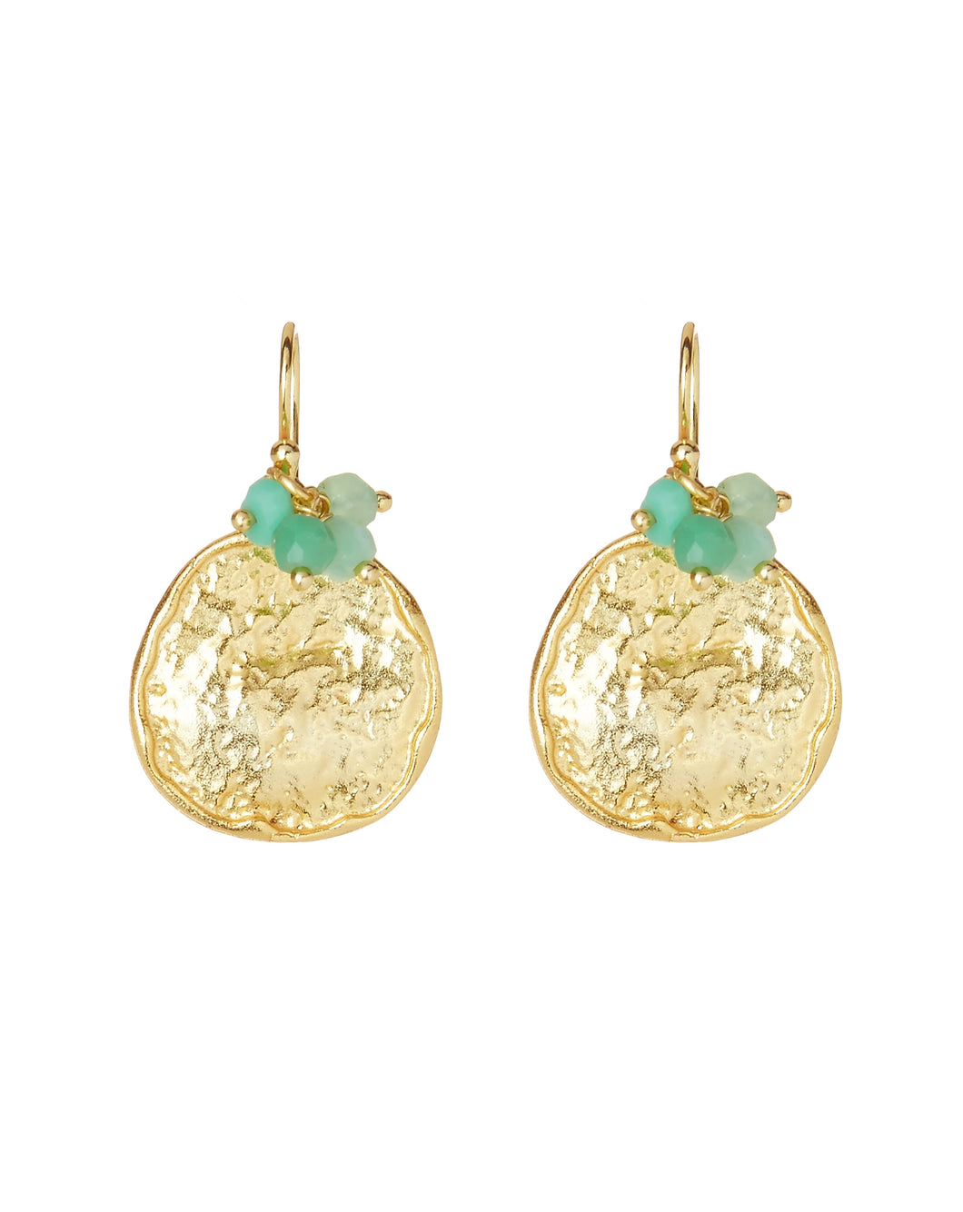 Solange Earrings in Aqua
