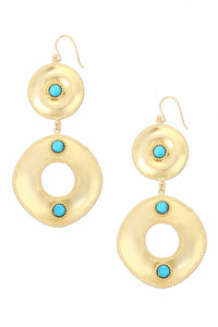 Ocean Whirlpool Earrings in Turquoise