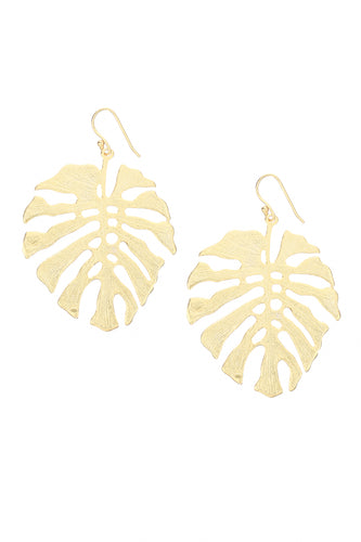 Adriana Monstera Drop Earrings