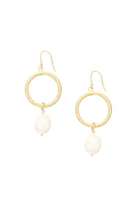 Margot Hoop Pearl Earrings