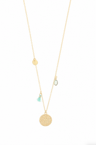 Calis Charm Necklace in Aqua