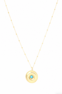 Ocean Whirlpool Disc Necklace in Turquoise