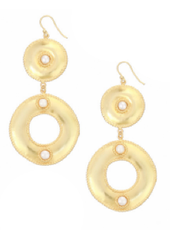 Ocean Whirlpool Earrings in Pearl