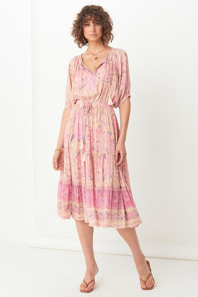 Mystic Midi Dress in Musk