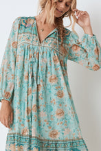 Seashell Boho Dress in Seafoam