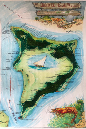 Map of Crooked Island