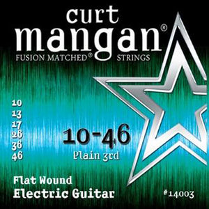 Curt Mangan 10-46 Flatwound Electric Guitar Strings - Dynamic Music Distribution
