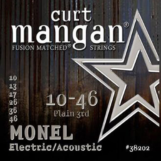 Curt Mangan 10-46 Plain 3rd Monel Electric Guitar Strings - Dynamic Music Distribution