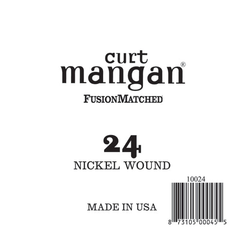 Curt Mangan 24 Nickel Wound Ball End Single String - Dynamic Music Distribution